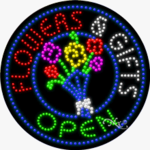 Flowers & Gifts Open LED Sign