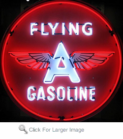Flying a Gasoline Neon Sign in Metal Can