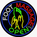 Foot Massage LED Sign