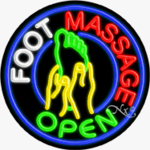 Foot Massage Circle Shape Neon Sign