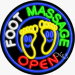 Foot Massage2 Circle Shape Neon Sign