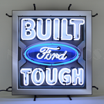 Ford Built Tough Square Neon Sign