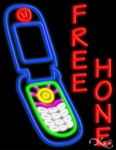 Free Cellphone Neon Sign