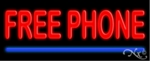 Free Cellular Phone Neon Sign