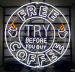 Free Coffee Neon Sign