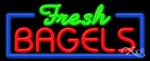 Fresh Bagels Business Neon Sign