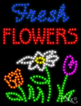 Fresh Flowers LED Sign