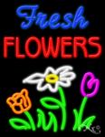 Fresh Flowers Business Neon Sign