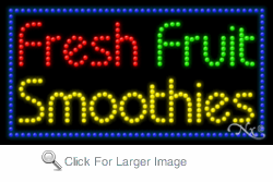 Fresh Fruit Smoothies LED Sign