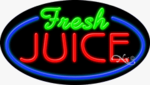 Fresh Juice Oval Neon Sign