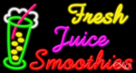 Fresh Juice Smoothies Business Neon Sign