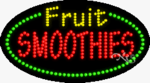 Fruit Smoothies LED Sign