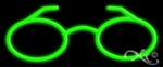 Glasses Logo Economic Neon Sign