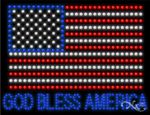 God Bless America LED Sign
