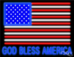 God Bless America Business Neon Sign