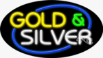 Gold & Silver Oval Neon Sign