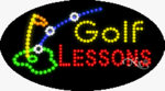 Golf Lessons2 LED Sign