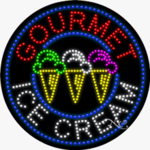Gourmet Ice Cream LED Sign