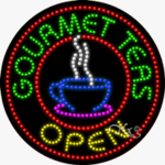 Gourmet Teas LED Sign
