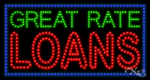 Great Rate Loans LED Sign