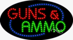 Guns & Ammo LED Sign