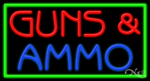 Guns & Ammo Business Neon Sign