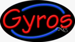 Gyros Oval Neon Sign