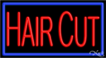 Hair Cut Business Neon Sign