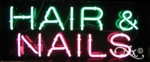 Hair Nail Salon Neon Sign
