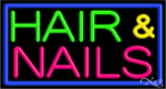 Hair & Nails Business Neon Sign