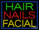 Hair Nails Facial LED Sign