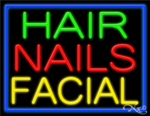 Hair Nails Facial Business Neon Sign