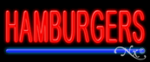Hamburgers Economic Neon Sign