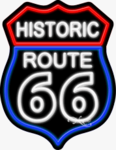 Historic Route 66 Business Neon Sign