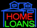 Home Loans Business Neon Sign