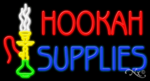 Hookah Supplies Business Neon Sign