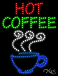 Hot Coffee LED Sign