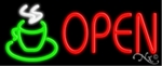 Hot Coffee Open Neon Sign