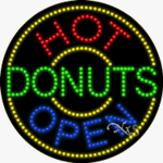 Hot Donuts LED Sign