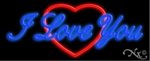 I Love You Logo Neon Sign