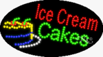 Ice Cream Cakes LED Sign