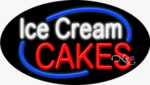 Ice Cream Cakes Oval Neon Sign