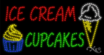 Ice Cream Cupcakes LED Sign