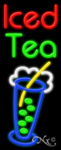 Iced Tea Business Neon Sign
