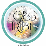 "In God We Trust 20""Neon Clock"