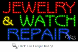 Jewelry & Watch Repair LED Sign