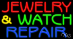 Jewelry & Watch Repair Business Neon Sign