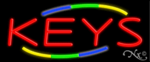 Keys Business Neon Sign