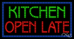 Kitchen Open Late LED Sign