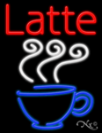 Latte Business Neon Sign